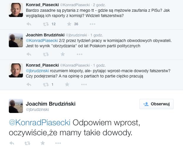 Joachim Brudziński jest przekonany, że ostatnie wybory zostały sfałszowane. Twierdzi, że PiS ma na to dowody.