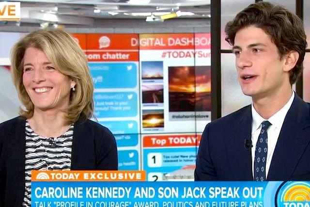Jack z mamą Caroline.