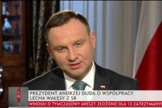 Andrzej Duda ocenił Lecha Wałęsę.