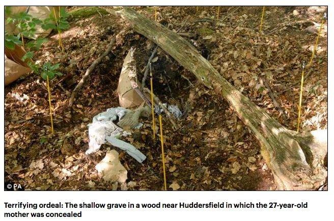 """Kobieta została zakopana żywcem w tym """"grobie""""."""