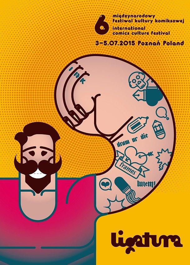 Plakat Ligatury 2015 autorstwa Kamila Macejki