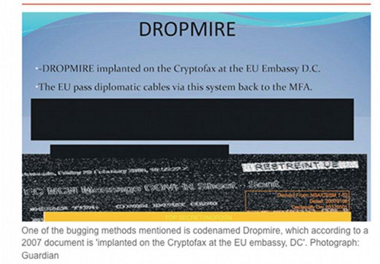 """Dokument podesłany do redakcji """"The Guardian"""" informujący o zainstalowaniu urządzenia Dropmire."""
