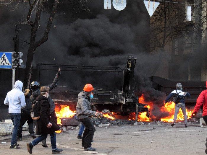Zamieszki w Kijowie. Luty 2014 r.
