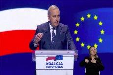 Grzegorz Schetyna rozpoczął konwencję Koalicji Europejskiej.