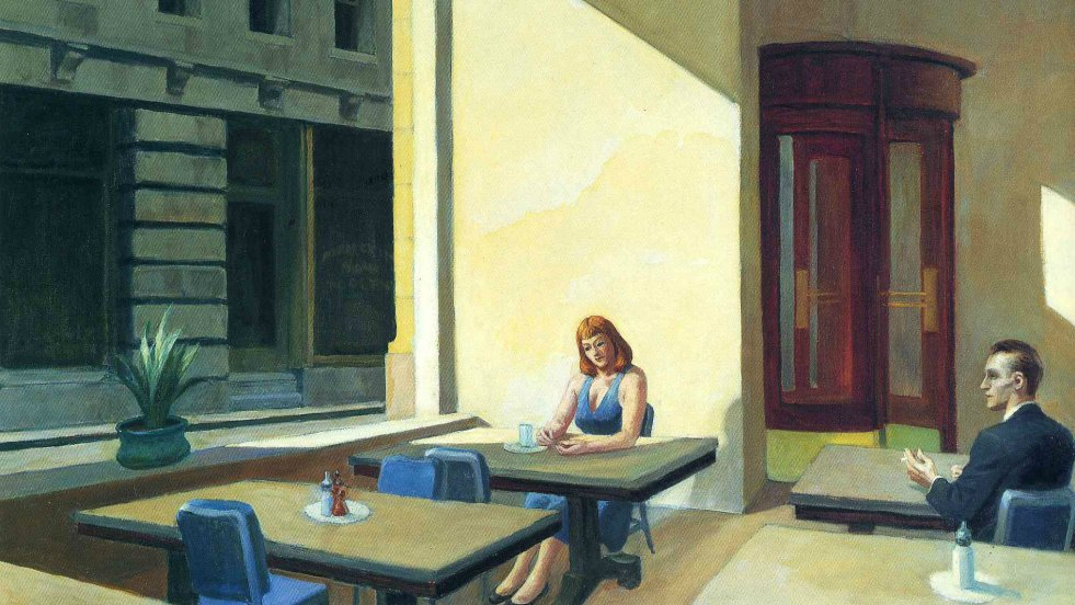 """Sunlight in a cafeteria"" 1958 Edward Hopper"
