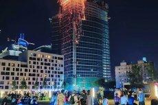 Pożar Warsaw Hub był dla niektórych atrakcją piątkowego wieczoru.