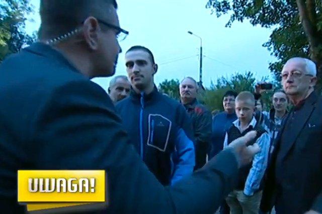 """Kadr z nagrania wykonanego przez ekipę programu """"Uwaga"""" (TVN)"""
