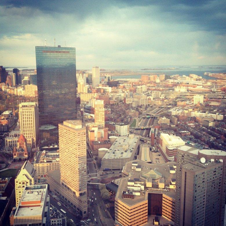 Boston z wieży obserwacyjnej.