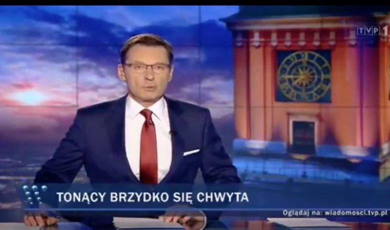 """Sobotnie wydanie """"Wiadomości"""" przedstawiło Wandę Traczyk-Stawską jako osobę zmanipulowaną przez opozycję."""
