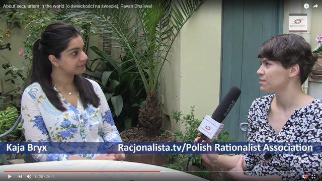 Pavan Dhaliwal z Brytyjskich Humanistów rozmawia z redaktorką Racjonalista.tv Kają Bryx o świeckości