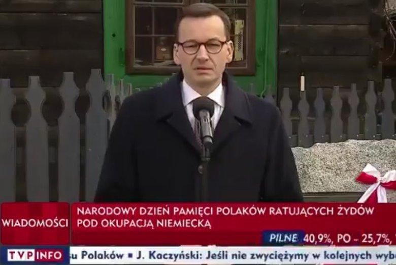 Z ust Mateusza Morawieckiego po raz kolejny padły niefortunne słowa odnośnie Holokaustu.