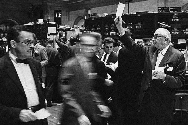 Giełda na Wall Street jeszcze przed komputeryzacją