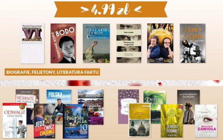 Fani książek będą zachwyceni. W ofercie znajdą m.in. przewodniki National Geographic, książki Ryszarda Kapuścińskiego, ale również ulubione książki najmłodszych.