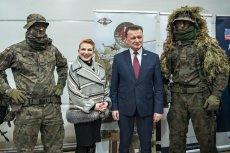 Minister Błaszczak i ambasador Mosbacher byli w bardzo dobrych humorach.