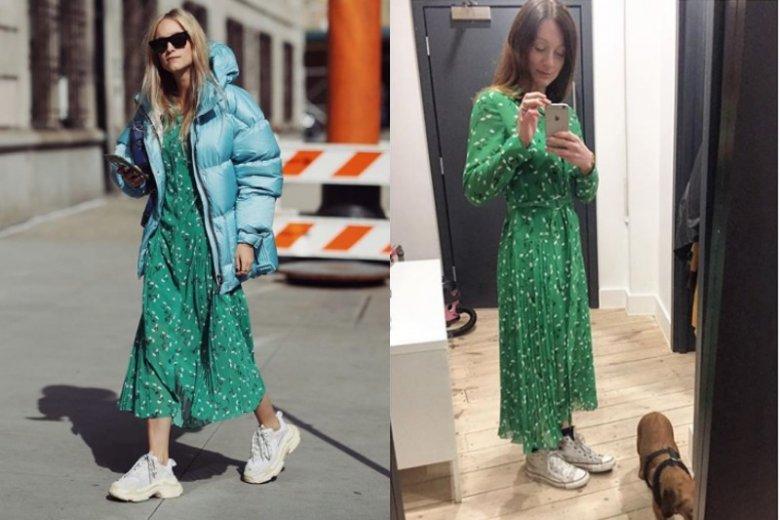 Po tym jak blogerka Charlotte Groeneveld (z lewej) pojawiła się w zielonej sukienki marki Kitri, stała się ona obiektem pożądania fashionistek z całego świata.