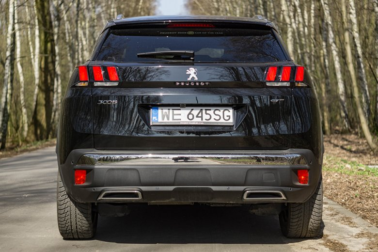 Światła podobne jak w całej marce Peugeot.