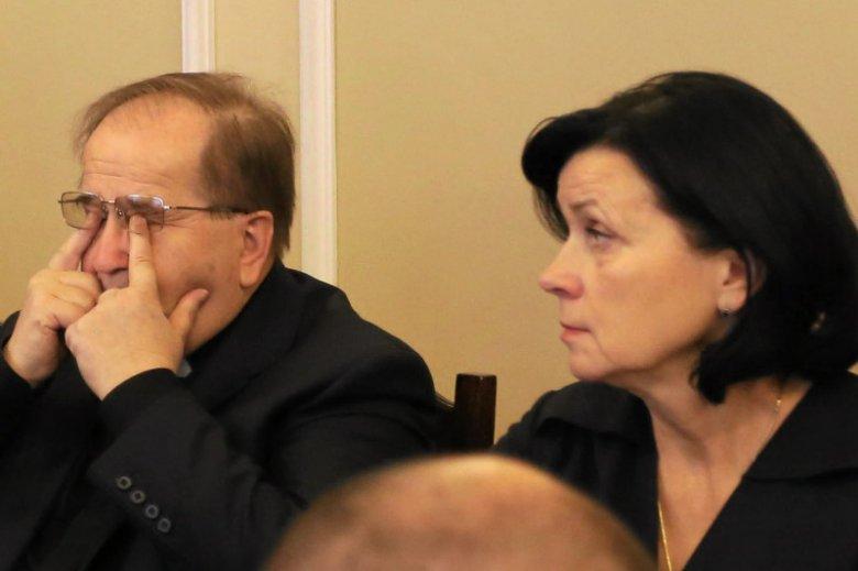 Tadeusz Rydzyk i Lidia Kochanowicz w Sejmie