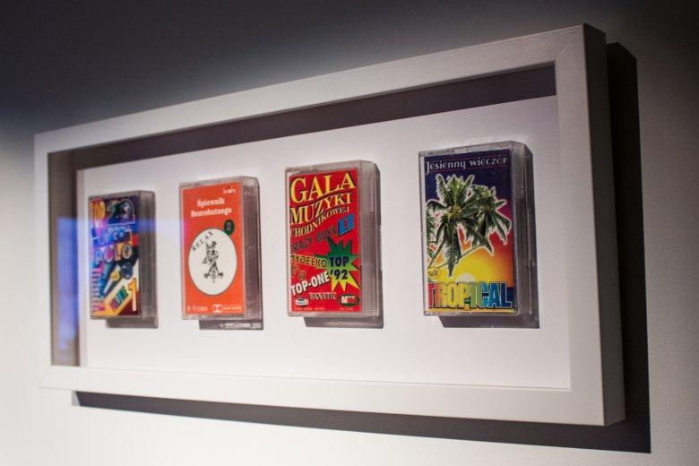 Na wystawie nie mogło zabraknąć oczywiście kultowych kaset