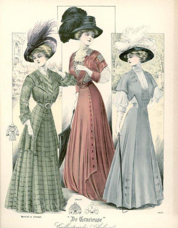 Francuskie żurnale były popularne wśród dam wyższych sfer.