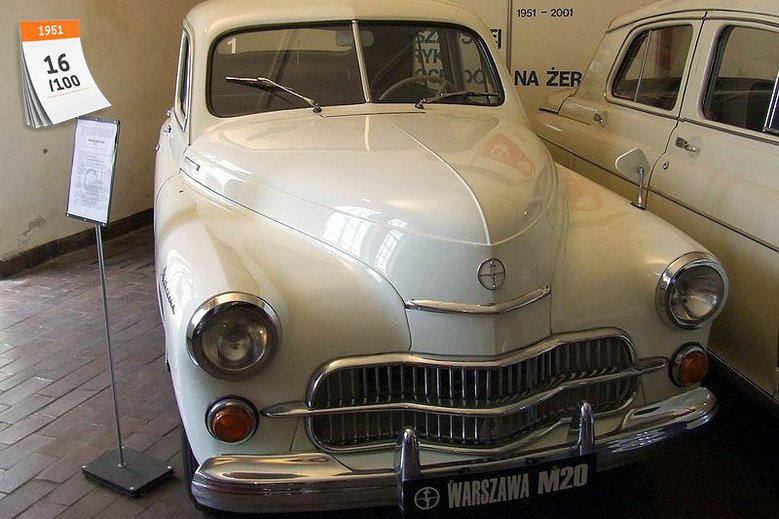 Warszawa M-20 była pierwszym samochodem wyprodukowanym w powojennej Polsce. Pierwszy egzemplarz tego auta zjechał z taśmy produkcyjnej Fabryki Samochodów Osobowych (FSO) w 1951 roku