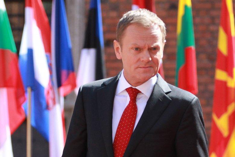 Premier Donald Tusk na Zamku Królewskim w Warszawie