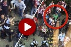 Film pokazujący walkę kiboli z policją przed meczem Polska-Dania.