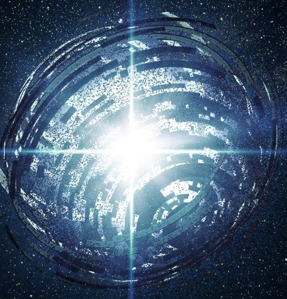 Sfera Dysona - orbitalna konstrukcja pozaziemskiej cywilizacji, przechwytująca do ich celów energię gwiazdy.