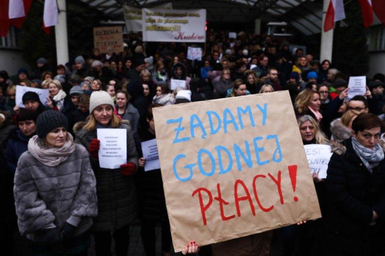 Pracownicy administracji sądowej protestują od 10 grudnia