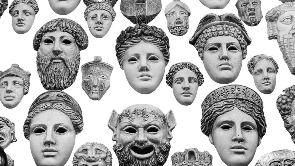 Greckie maski miały za zadanie podnosić autentyzm postaci i pokazywać jednoznacznie ich charakter