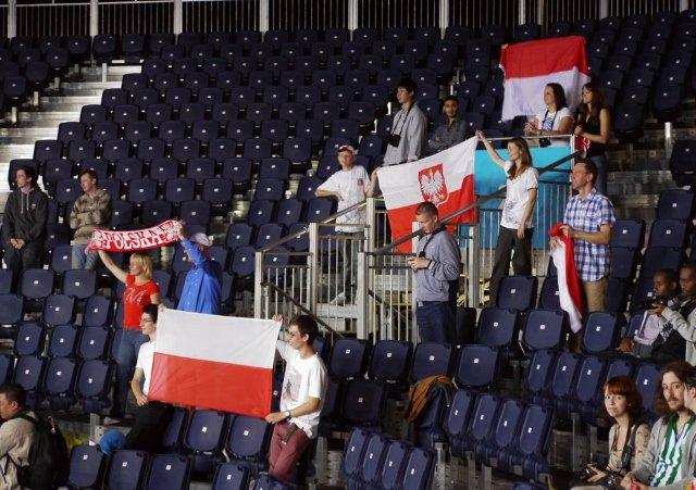 Niewielki polski kontyngent w ExCel arenie, czekający teraz na Mazurka Dąbrowskiego.