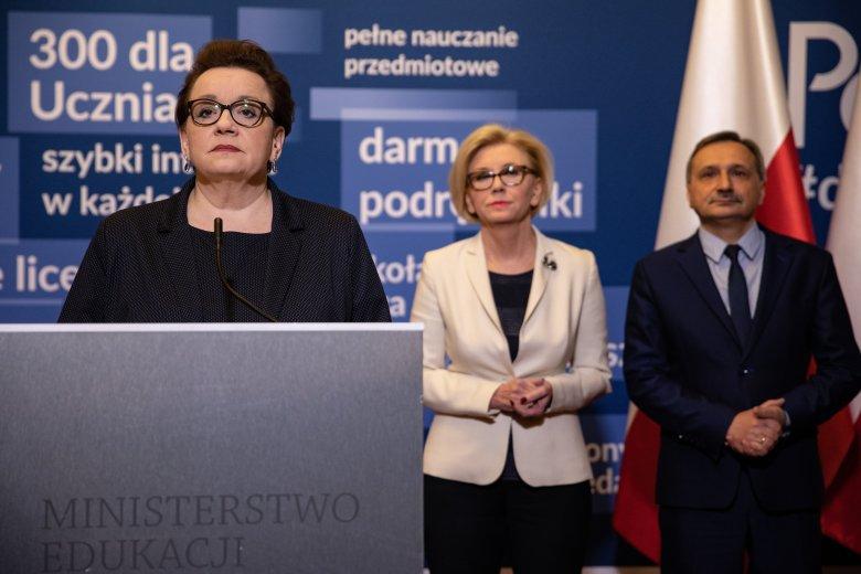 Marzec 2019. Minister Anna Zalewska apeluje do nauczycieli.