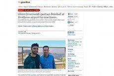 Partner dziennikarza, który opisał rewelacje Edwarda Snowdena, zatrzymany na lotnisku w Londynie