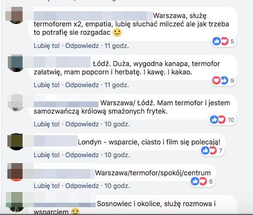 Komentarze internautek na facebookowym profilu Aborcyjny Dream Team on tour.