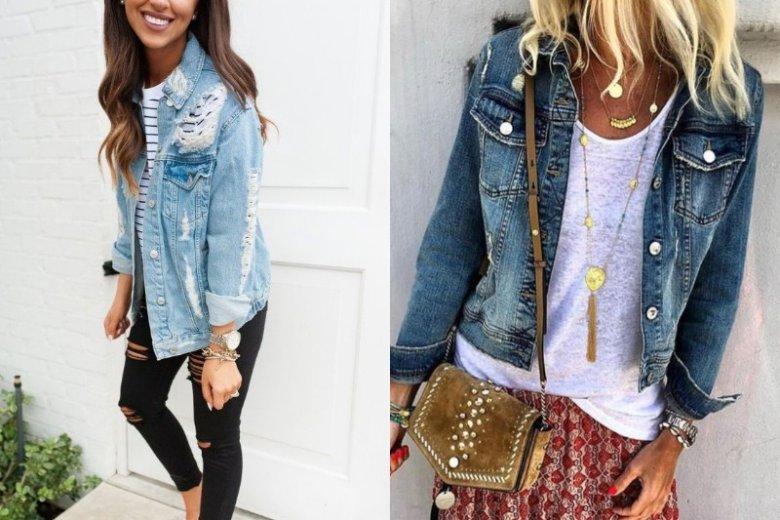 Kurtka jeansowa w festiwalowym looku wygląda bardzo stylowo