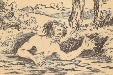 Wodnik przedstawiony na dwudziestowiecznej ilustracji.