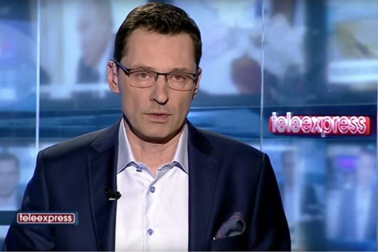 """Krzysztof Ziemiec prowadzi teraz m.in. """"Teleexpress"""" na antenie TVP."""