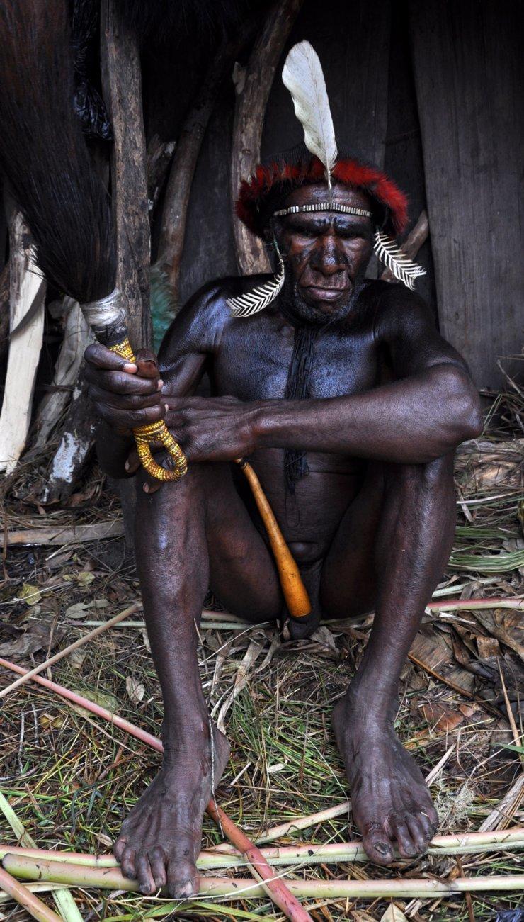Papuas pierwszy w kotece