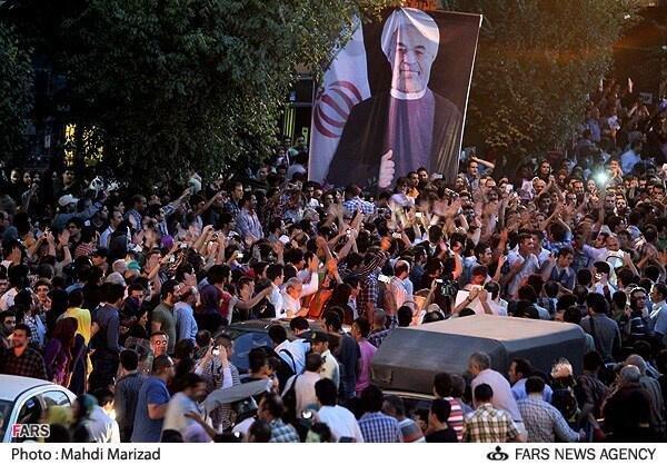 Irańczycy cieszą się z wyniku wyborów.