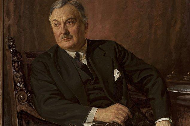 Jan Wedel, jeden z najbogatszych biznesmenów przedwojennej Polski. Portret Stefan Norblin