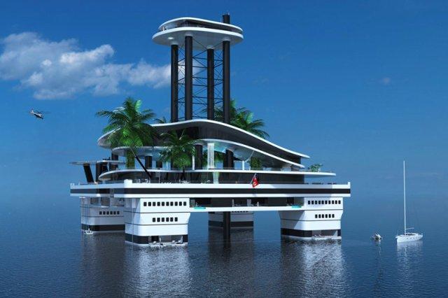 Firma z Austrii, produkująca podwodne jachty, chce zrobić kolejny krok w sferze komfortu dla bajecznie zamożnych osób. Jej najnowszym pomysłem jest projekt mobilnej wyspy z masą atrakcji