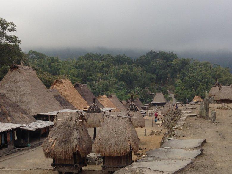 Tradycyjna wioska Luba. Flores, Indonezja.