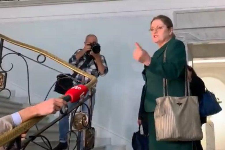 Krystyna Pawłowicz zapowiedziała, że da jeszcze popalić dziennikarzom.