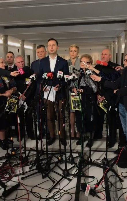 Decyzję ogłosiliśmy dziś na konferencji prasowej w Sejmie