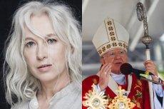 """Manuela Gretkowska skomentowała wypowiedź abp. Jędraszewskiego, który nazwał ludzi LGBT """"tęczową zarazą""""."""