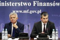Prezes Narodowego Banku Polskiego Marek Belka i minister Finansów Mateusz Szczurek podczas posiedzenia Komitetu Stabilności Finansowej.