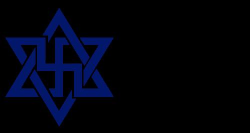 """Symbole raelizmu. Po prawej wersja """"złagodzona"""" dla oka Żydów i europejczyków"""