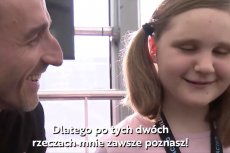 Robert Kubica spotkał sięz niewidomąfanką.