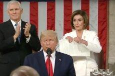 Nancy Pelosi jest przewodniczącą Izby Reprezentantów z Partii Demokratycznej.