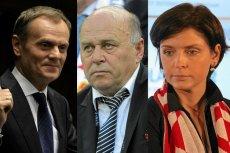 Donald Tusk, Grzegorz Lato, Joanna Mucha