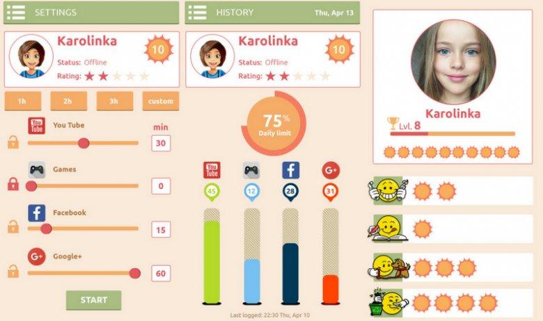 Virtual Parent to program służący z jednej strony do monitoringu aktywności dziecka w sieci, a z drugiej mający na celu zachęcanie pociechy do wykonywania różnych obowiązków